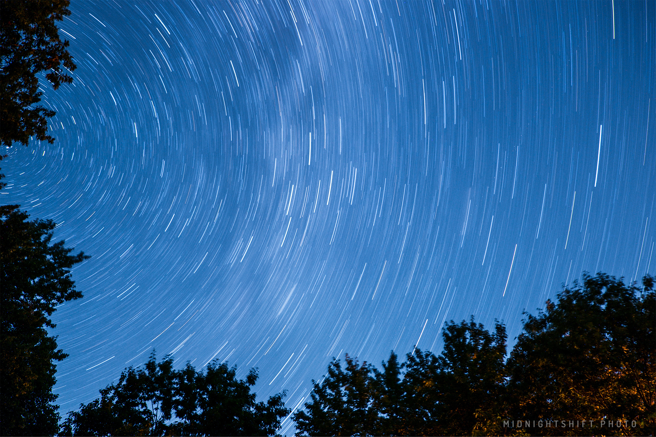 Star photography in Fryeburg, Maine
